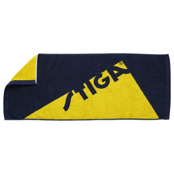 Stiga Handtuch Edge navy/gelb