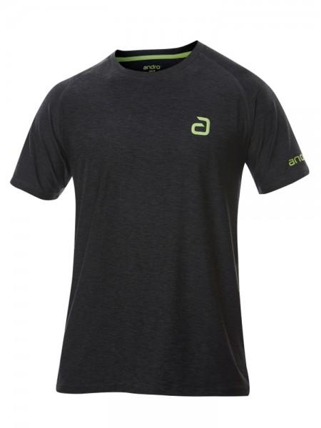 andro T-Shirt Melange Pro schwarz