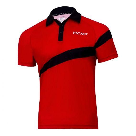 Victas Hemd V-Shirt 215 rot/schwarz