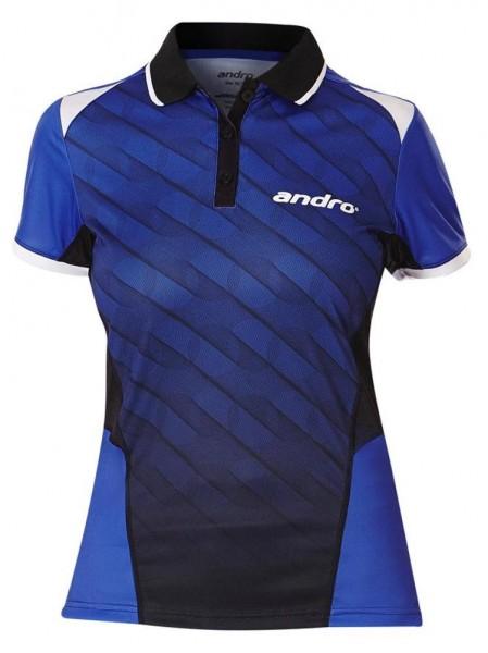 andro Hemd Milos Women blau/schwarz