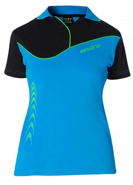andro Hemd Brendan Women blau/schwarz/grün