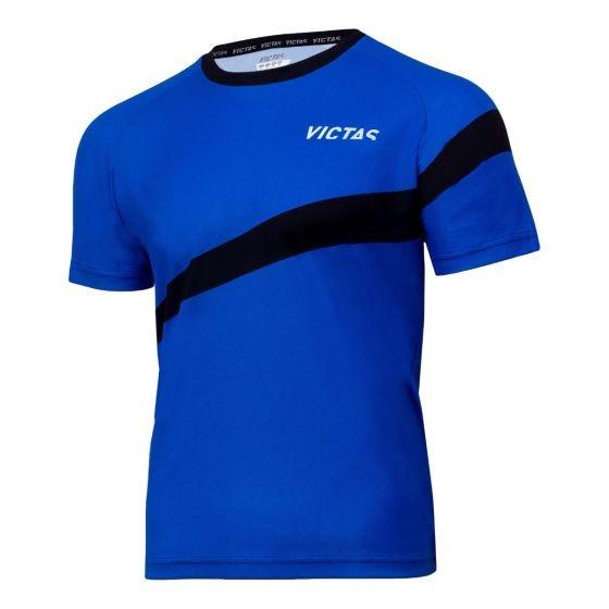 Victas V-T-Shirt 216 blau/schwarz