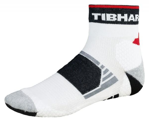 Tibhar Socke Tech weiß/schwarz/rot