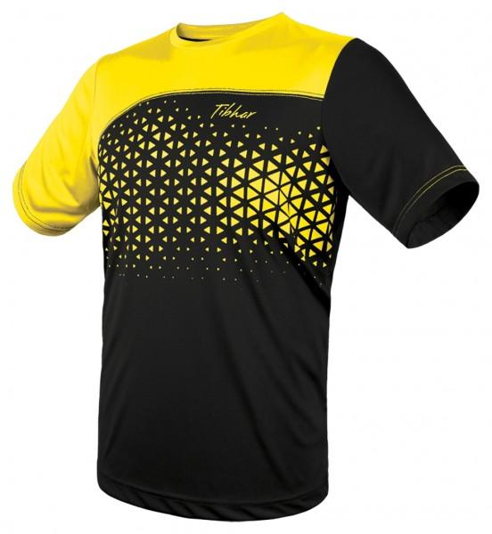Tibhar T-Shirt Game schwarz/gelb