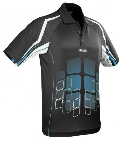 Tibhar Hemd Cube schwarz/blau