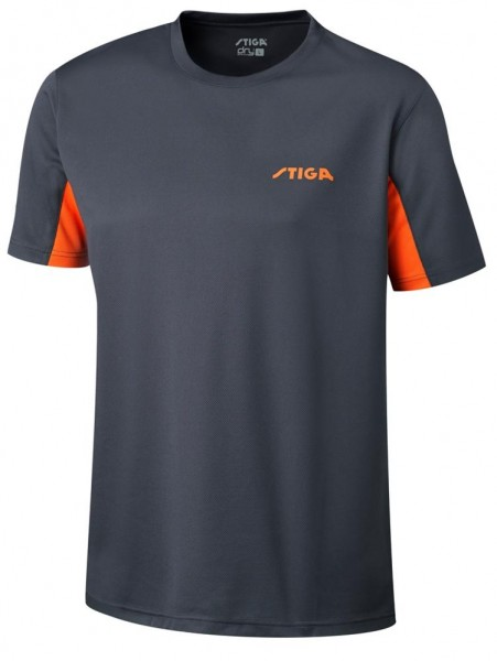 Stiga T-Shirt Atlantis grau/orange