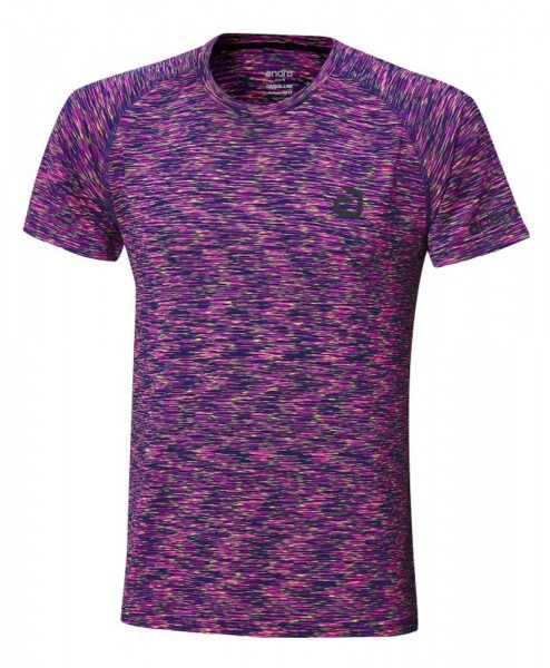 andro T-Shirt Melange Multicolor magenta/dunkelblau