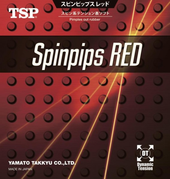 TSP Belag Spinpips Red